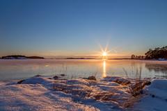 Magical sunset (Joakim Berndes) Tags: ocean winter sunset sky sun snow ice sol se is vinter sweden natur himmel sverige snö hdr contrejour havet nyköping solnedgång 2016 stendörren motljus naturreservat tystberga södermanland södermanlandslän