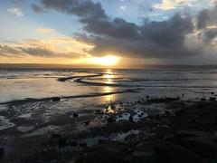 Sunset across the Dee (flissel) Tags: winter sunset sea england sun water wales river sundown estuary meander wirral westkirby