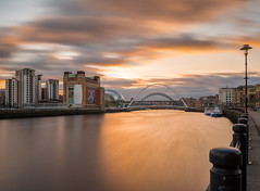 Newcastle Quayside (srhphoto) Tags: sunset newcastle tynebridge panasonic milleniumbridge newcastleupontyne m43 microfourthirds panasonic1442mmmkii panasonicdmcgx8