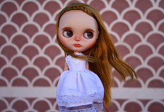 My new girl (zsofianyu) Tags: wedding summer white eye shop doll dress princess handmade ooak country chips clothes blythe neo freckles etsy gown custom fo takara seller fa adoption braid realistic customisation eyechips puppelina