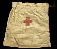 1st aid kit bag (Madison Historical Society) Tags: old usa history museum photo costume clothing interesting nikon uniform flickr shot image connecticut interior military country wwi shoreline picture newengland ct indoor worldwari madison historical inside antiques academy greatwar firstworldwar route1 mhs conn bostonpostroad nikond600 leeacademy madisonhistoricalsociety connecticutscenes madisonhistory bobgundersen