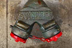 Standpipe (only lines) Tags: red newyork water hydrant standpipe