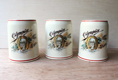 Vintage Olympia Beer Steins (thea superstarr) Tags: beer bar vintage mugs washington ebay mug olympia accessories decor stein collectibles drinkware steins listing tumwater olympiabeer goldenhorseshoe crazing isosomething beercollectible