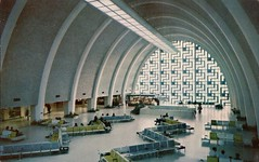 Main Lobby, New Orleans International Airport, Louisiana (SwellMap) Tags: architecture plane vintage advertising design pc airport 60s fifties aviation postcard jet suburbia style kitsch retro nostalgia chrome americana 50s roadside googie populuxe sixties babyboomer consumer coldwar midcentury spaceage jetset jetage atomicage