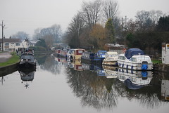 Grey (& misty) reflections (Halliwell_Michael ## Thank you for your visits #) Tags: trees winter reflection water reflections boats boat perspective canals barge baretrees towpath westyorkshire barges bingley leedsliverpoolcanal 2016 5riselocks nikond40x reflectionslovers