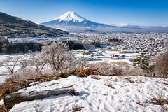 Looks Good in Snow (Yuga Kurita) Tags: winter snow nature japan landscape fuji mt mount fujisan snowscape fujiyama