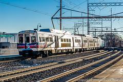 SEPTA 820 on 4123, Wilmington, 2016-02-02 (redheadedrobbie1) Tags: railroad electric amtrak septa railfan nec spax northeastcorridor multipleunit silverliner silverlinerv hyundairotem