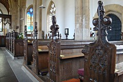 [39233] Silk Willoughby : Bench Ends (Budby) Tags: church woodwork lincolnshire pews silkwilloughby