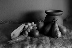 from the larder v.1 (Wendy:) Tags: stilllife fruit lemon pears grapes pottery limes tiltshift hession