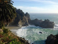 McWay Falls (philfrias) Tags: california beach waterfall bigsur iphone mcwayfalls