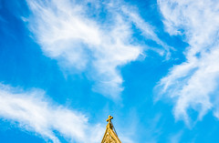 Parvis St-Henri, Brussels (andrewhardyphotos) Tags: brussels sky skyline clouds belgium belgique bruxelles woluwestlambert wsl sigma1750mmf28exdcoshsm nikond7200 parvissthenri