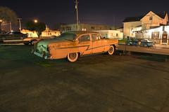 1956 Mercury Monterey (Curtis Gregory Perry) Tags: california old longexposure 1955 car night sedan monterey buick nikon mercury parking lot special 1956 eureka d800e