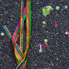 The party is over (zeh.hah.es.) Tags: schweiz switzerland zurich zrich asphalt karneval fasnacht kreis5 konfetti rntgenplatz