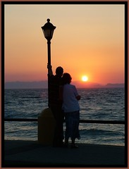Rhodos Sunset (SwissMike62) Tags: light sunset love couple greece romantic greekislands goldenhour romanticevening