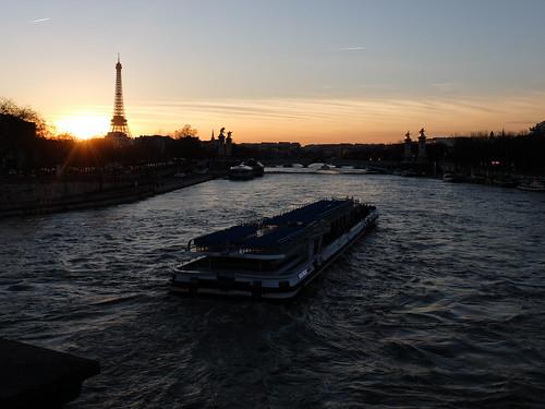 Couché de soleil sur Paris