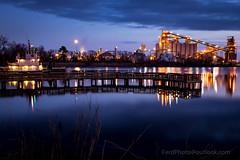 Tugboats at Sunset (Larry Ferdinande) Tags: longexposure bridge sunset architecture clouds river elizabeth dusk le tugboat tug tugs chesapeake hamptonroads tidewater elizabethriver elizabethriverpark coastalvirginia loveva