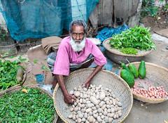 Portrait of a salesman at a rural vegetable market, The village of Ghor Dhor Basar, Munshigong Division, Dhaka District, Bangladesh, Indian Sub-Continent, Asia (thousandvoyages) Tags: portrait man male vegetables rural asia village adult market vegetable selling bangladesh salesman oneman underdeveloped manonly munshigong ghordhor