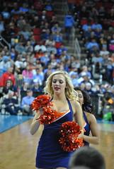 UVA CHEERLEADER (SneakinDeacon) Tags: basketball cheerleaders providence tournament ncaa uva wahoos friars cavaliers bigeast hoos pncarena