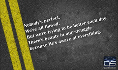 Nobody's Perfect written on the road (quranschool) Tags: brazil true self persona hit perfect message respect image notice spirit character vanity certain right personality wrong relationship lie correct fault thinking boner slip mistake normal positive phrase miss sayings improvement perfection bulletin confident abnormal equality ordinary acceptance confidence psychology aspirations individuality lined imperfect nobodys