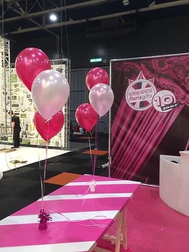 Tafeldecoratie 3ballonnen Floris Gifts Promz Jaarbeurs Utrecht