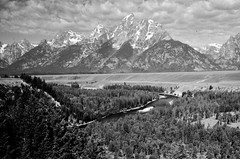 Ansel Adams Did This Better (Laurette Victoria) Tags: mountains wyoming grandtetons tetons