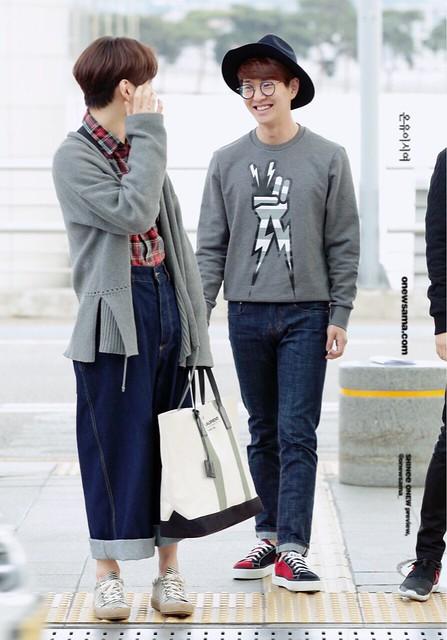 160401 SHINee (Sin Jonghyun) @ Aeropuerto de Incheon {Rumbo a Japón} 25616530254_b35c32b8cf_z