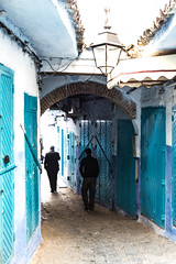 In & Out (Pamela Sia) Tags: city light shadow colors doors streetphotography morocco chaouen passage chefchaouen