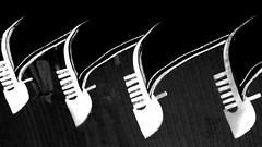 "reflections of the prows of  gondolas (jjamv) Tags: city venice blackandwhite italy abstract building water monochrome blackbackground architecture reflections veneza boats pier boat italia waterfront outdoor steel bn unescoworldheritagesite unesco ponte panasonic riverbed gondola brass palazzo venise venecia venezia venedig unescoworldheritage palaces grandcanal rialto waterway aluminium gondolas dogespalace vessels watercourse stmarkssquare palazzi barges gondole veneto 威尼斯 canalgrande 2016 prow travelphotography zecca dogana vaporetti 베니스 launches ונציה pettine ferrodiprua canalazzo fèrro jjamv julesvtravel ferodaprorà panasonicdmctz70 dmctz70 prorà"""