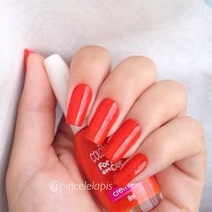 Unha 2 - Alaranjadas / Cone Laranja, Colorama (Mab (Marcelle Vicalvi)) Tags: red orange cone nail laranja polish vermelho em cor forma unha coleo esmalte colorama cremoso