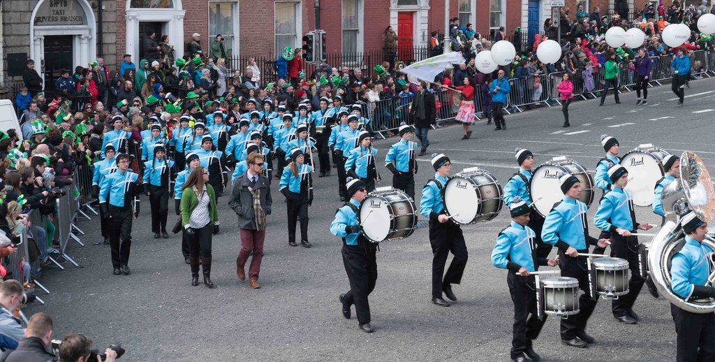 HAGERTY HIGH SCHOOL MARCHING HUSKIES [DUBLIN 2016 PATRICK'S DAY PARADE]-112558