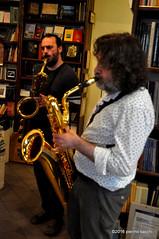 M4099415 (pierino sacchi) Tags: musica sax saxophone libreria recitazione baritono oneiros andreaferrari libreriacardano simonemocennibeck igorebulipoletti
