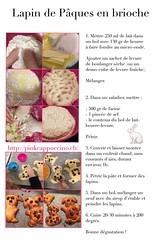 Recette lapin de Pâques en pâte à tresse (pinkcappuccino) Tags: pain tresse brioche recette lapinpâques