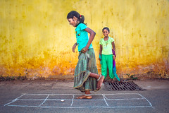 (  - Hopscotch) (VENGAT SIVA) Tags: travel people rural village traditional streetphotography hopscotch tamilnadu pondicherry roi silli aattam rootsofindia aadukalam wikipidea