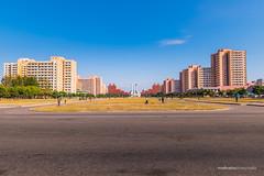 North Korean Workers Party Monument (reubenteo) Tags: city democracy scenery war communist communism kimjongil socialist metropolis socialism northkorea pyongyang dprk reunification kimilsung kimjongun