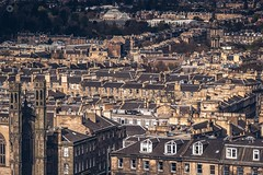 Stacked Rooftops (Augmented Reality Images (Getty Contributor)) Tags: old houses clock architecture canon buildings landscape scotland ancient edinburgh cityscape rooftops clocktower flats newtown residential caltonhill chimneys auldreekie leefilters
