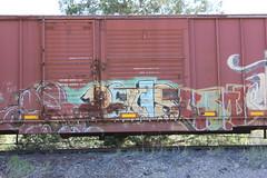 04212016 021 (CONSTRUCTIVE DESTRUCTION) Tags: train penis graffiti streak tag boxcar graff piece con ono onorok moniker
