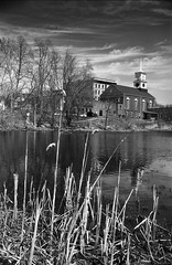 A Beautiful Day in April (jpr_me) Tags: blackandwhite bw film nature monochrome outdoor april 24 105 r2 nashua redfilter xtol11 fomapan100 2016 nashuariver f3hp 2890 24mmf28ais blindphotographer epsonv500