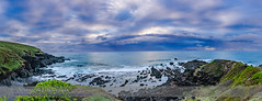Cloudy Sunrise at Woolgoolga Headlands (Amazing Sky Photography) Tags: ocean panorama clouds sunrise dawn boat moody heather australia nsw headlands acr hdr woolgoolga