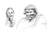 (nadiadubijansky) Tags: portrait pencil israel women faces sketchbook mustache macbeth israelart israelillustration