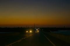 Sunset Road (DavidAvila Photography) Tags: road sunset sky west cars water colors skyline night landscape photography lights nikon key shadows state florida united ombre clear fade balance states borderline