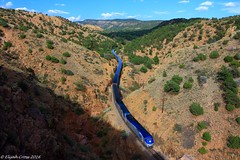 Amtrak's Southwest Chief in Apache Canyon (SWChief34) Tags: new southwest train mexico chief amtrak