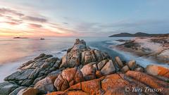 Colours of Tasmania (Yuris.photos) Tags: ocean reflection sunrise australia tasmania redrocks bicheno
