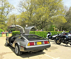 It's a DeLorean-DMC-12  .. (John(cardwellpix)) Tags: uk corner sunday surrey april 12 guildford delorean 24th newlands dmc albury 2016 merrow