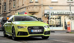 GRS7een. (fabianbaege) Tags: green audi karlsruhe supercar rs4 rs6 2015 carspotting sportback rs3 rs5 rs7