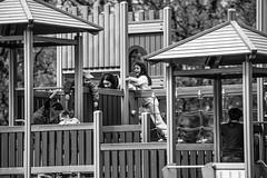 fun and games (dtapkir) Tags: uk light england people bw white tree london kids garden mono nikon child play ground d750 80400 blackcontrast
