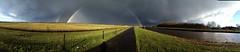 Doppelter Regenbogen (Bornhorst/Blankenburg) (perspective-OL) Tags: rain shower rainbow ostern gewitter oldenburg regenbogen naturschutzgebiet 2016 bornhorster huntewiesen