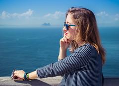 (illescas.daniel) Tags: blue sea girl glasses dress sister gibraltar ceuta lrthefader