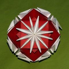 Chrysanthemum Ball (Yasuko Suyama) (De Rode Olifant - slow - due to hand-surgery) Tags: paper 3d origami modular paperfolding diagrams tomokofuse chrysanthemumball yasukosuyama marjansmeijsters noa263