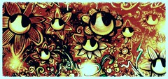 """""""Forest Of Flowers"""" - INSPIRE (www.InspireCollective.com) Tags: street flowers white black color texture floral ink painting acrylic natural paintings canvas oil designs characters inside psychedelic aerosol inspire itw arttist illustratuve"""