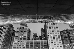 Under the Bean. Cloud Gate (Sandro Giorgi) Tags: city urban blackandwhite usa chicago building architecture canon illinois metro cloudgate thebean 6d travrel sandrogiorgi sandrogiorgiphotography